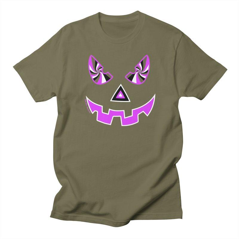 Evil Pumpkin Head Tee Men's Regular T-Shirt by Raw Meat Collective