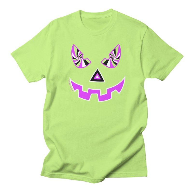 Evil Pumpkin Head Tee Women's Regular Unisex T-Shirt by Raw Meat Collective