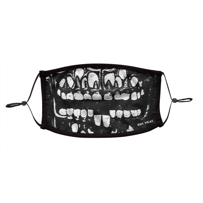 Grin Face Mask Accessories Face Mask by Raw Meat Collective