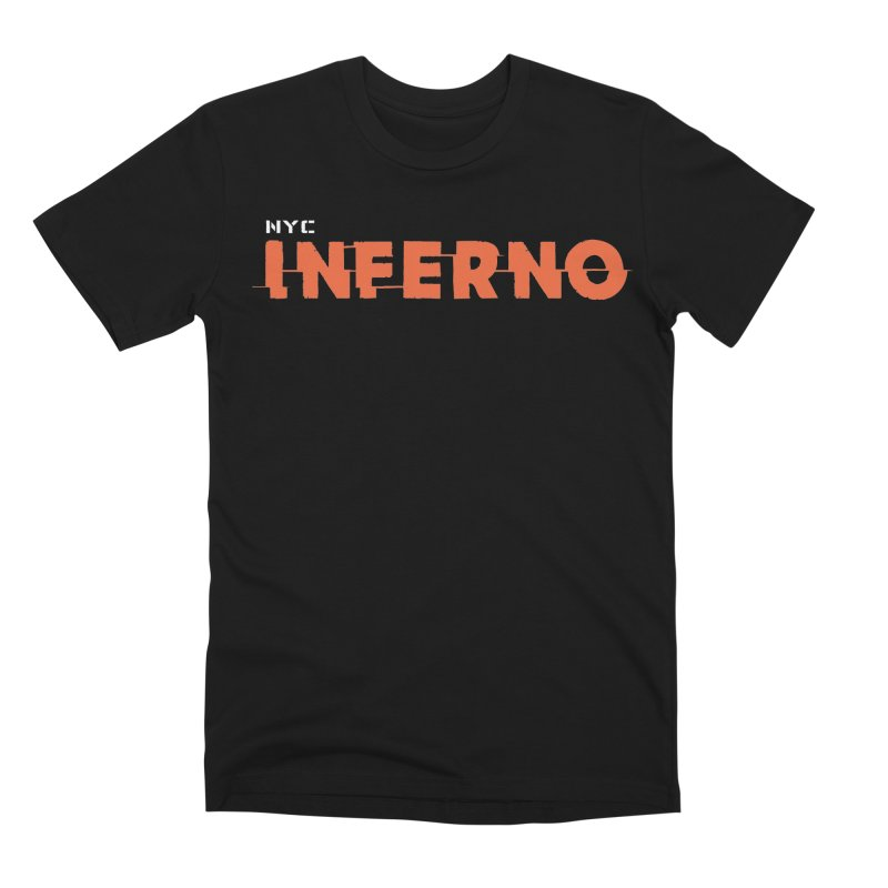 NYC Inferno Logo Tee Men's Premium T-Shirt by Raw Meat Collective