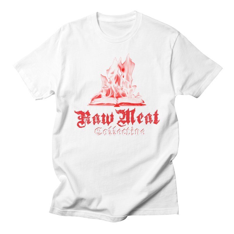 Book Burning Logo Men's T-Shirt by Raw Meat Collective