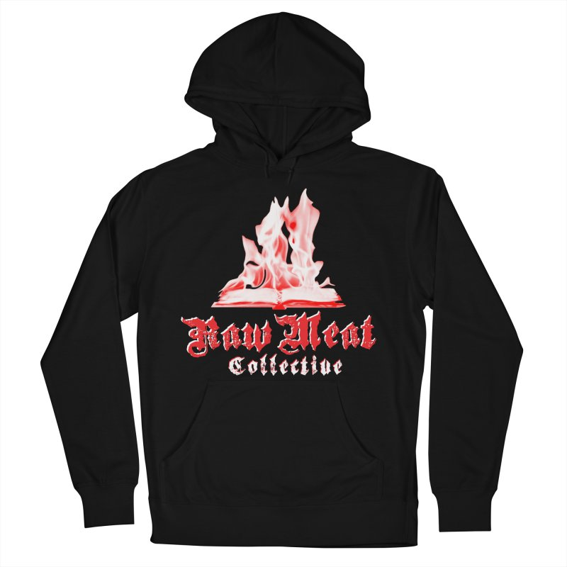 Book Burning Logo Men's French Terry Pullover Hoody by Raw Meat Collective