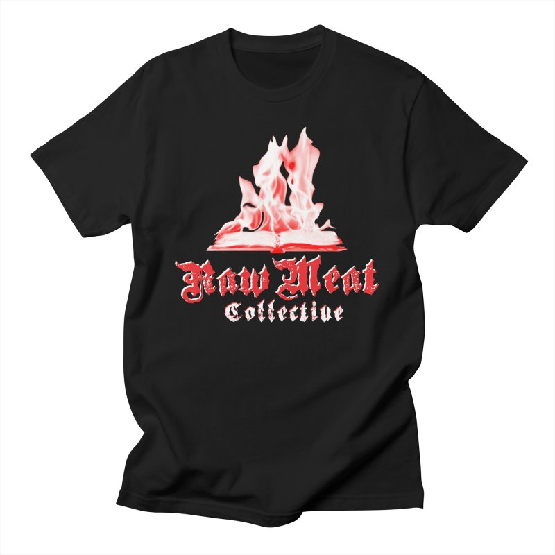 Book Burning Logo Women's Regular Unisex T-Shirt by Raw Meat Collective
