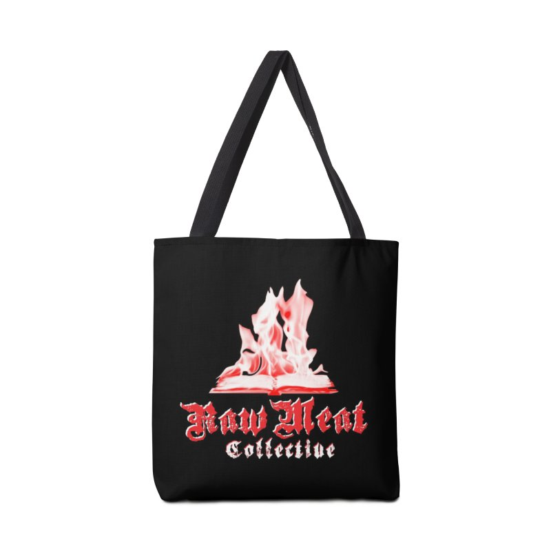 Book Burning Logo Accessories Tote Bag Bag by Raw Meat Collective