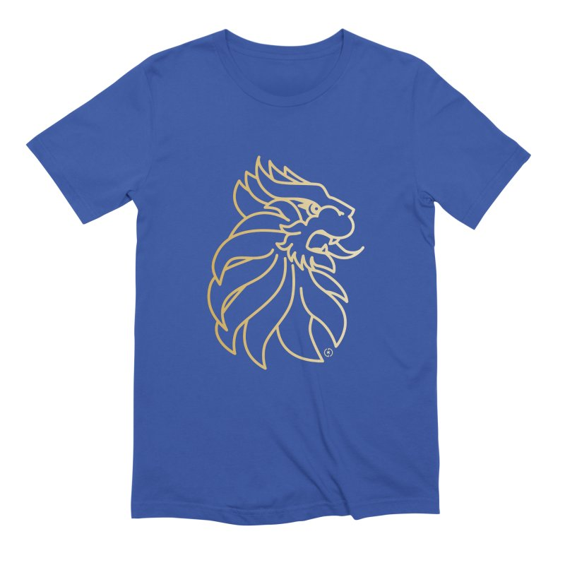 Roar Gold Men's Extra Soft T-Shirt by Shop by Ray de Guzman  •  raydeguzman.ca
