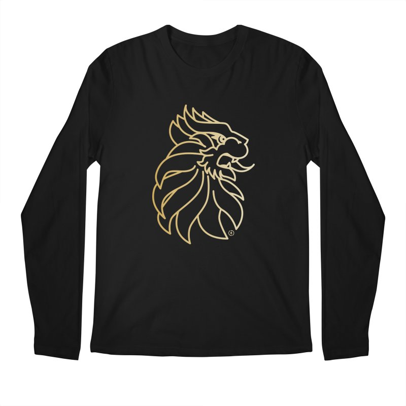 Roar Gold Men's Regular Longsleeve T-Shirt by Shop by Ray de Guzman  •  raydeguzman.ca