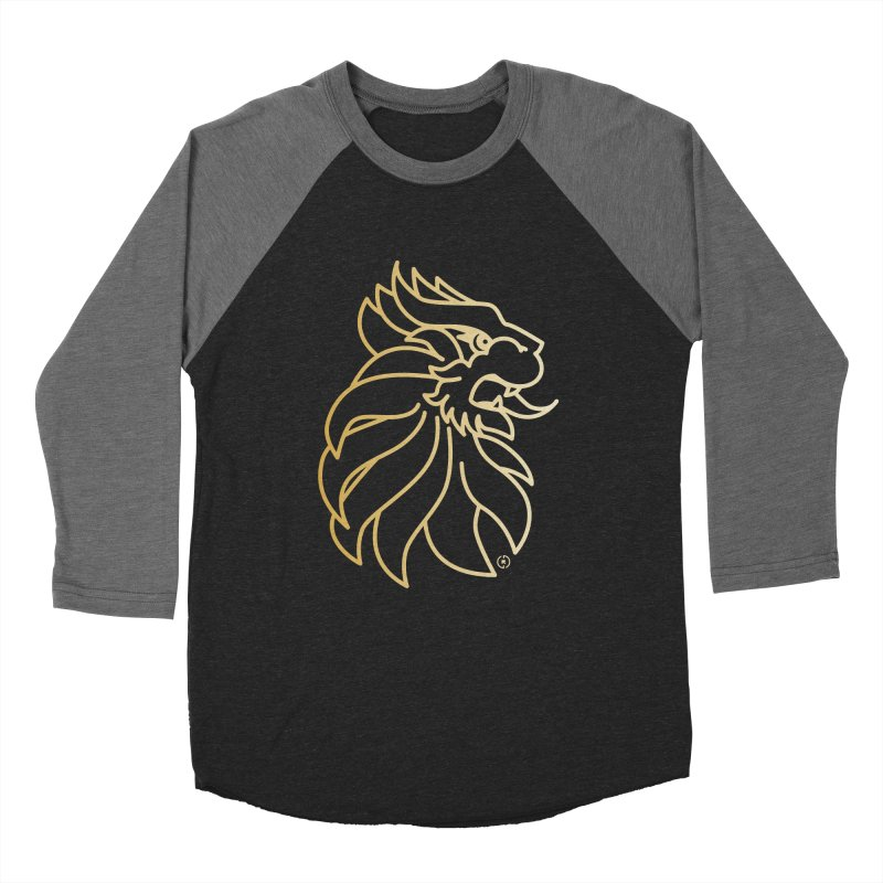 Roar Gold Men's Baseball Triblend Longsleeve T-Shirt by Shop by Ray de Guzman  •  raydeguzman.ca