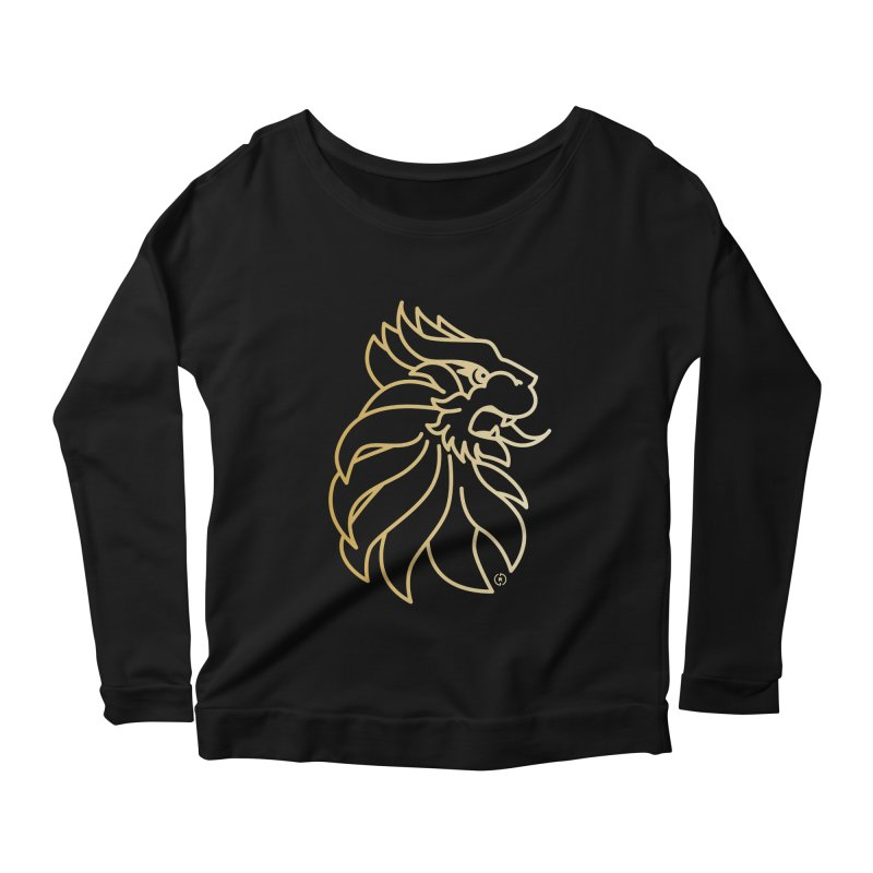 Roar Gold Women's Scoop Neck Longsleeve T-Shirt by Shop by Ray de Guzman  •  raydeguzman.ca