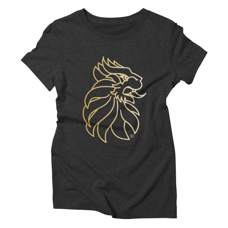 Roar Gold Women's Triblend T-Shirt by Shop by Ray de Guzman  •  raydeguzman.ca