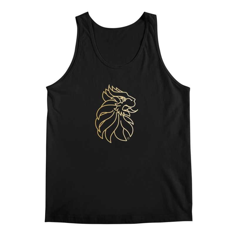 Roar Gold Men's Tank by Shop by Ray de Guzman  •  raydeguzman.ca