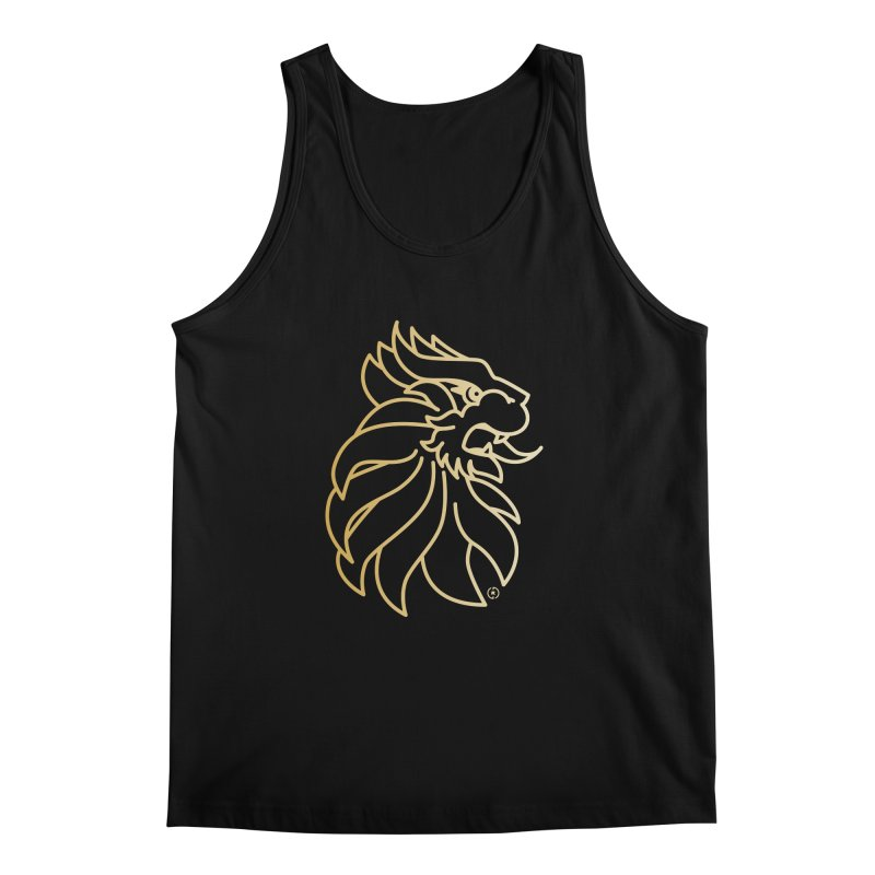 Roar Gold Men's Regular Tank by Shop by Ray de Guzman  •  raydeguzman.ca