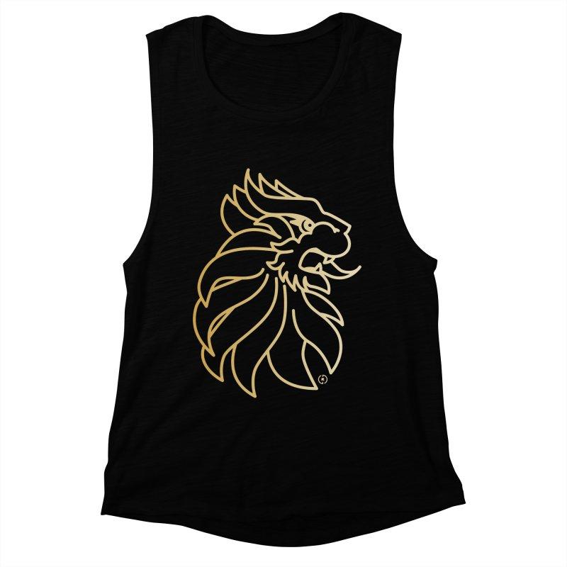Roar Gold Women's Muscle Tank by Shop by Ray de Guzman  •  raydeguzman.ca