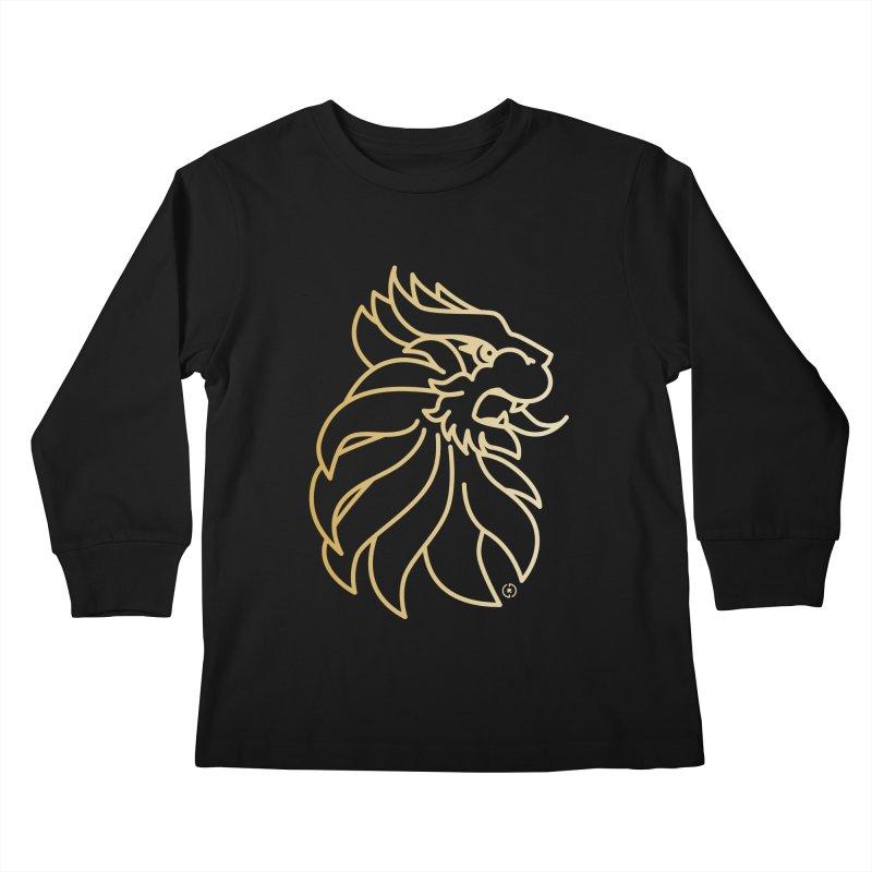 Roar Gold Kids Longsleeve T-Shirt by Shop by Ray de Guzman  •  raydeguzman.ca