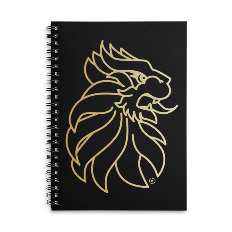 Roar Gold Accessories Lined Spiral Notebook by Shop by Ray de Guzman  •  raydeguzman.ca