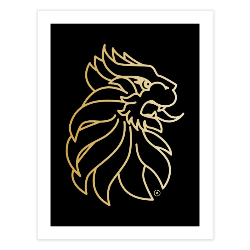 Roar Gold Home Fine Art Print by Shop by Ray de Guzman  •  raydeguzman.ca