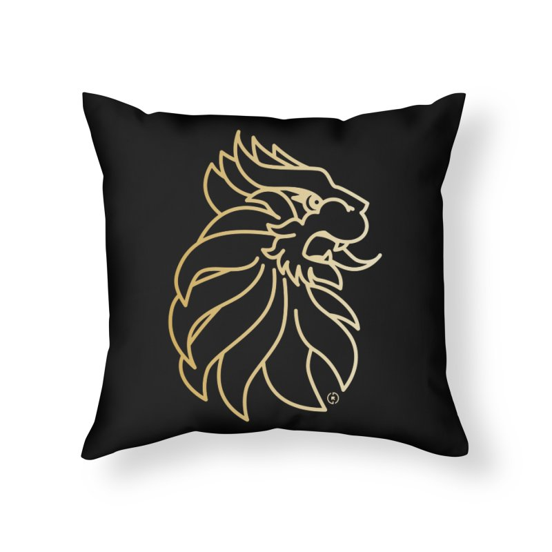 Roar Gold Home Throw Pillow by Shop by Ray de Guzman  •  raydeguzman.ca
