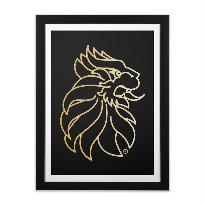 Roar Gold Home Framed Fine Art Print by Shop by Ray de Guzman  •  raydeguzman.ca