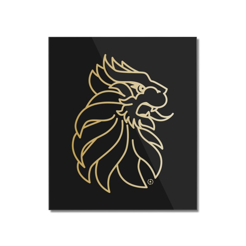 Roar Gold Home Mounted Acrylic Print by Shop by Ray de Guzman  •  raydeguzman.ca
