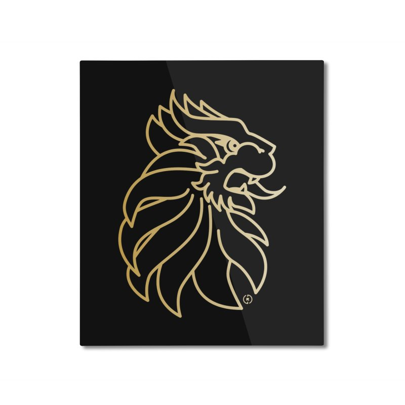 Roar Gold Home Mounted Aluminum Print by Shop by Ray de Guzman  •  raydeguzman.ca