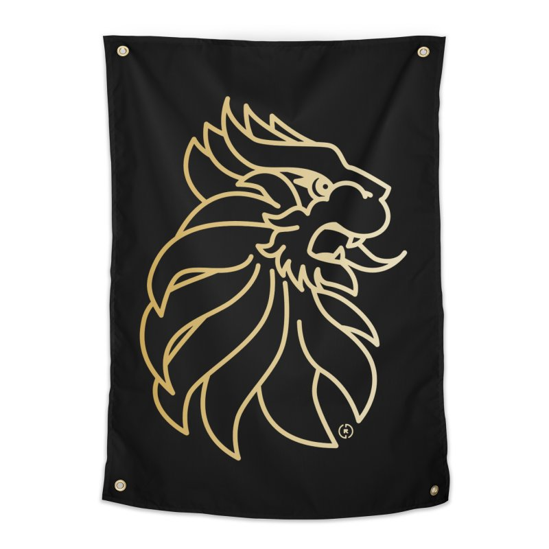 Roar Gold Home Tapestry by Shop by Ray de Guzman  •  raydeguzman.ca
