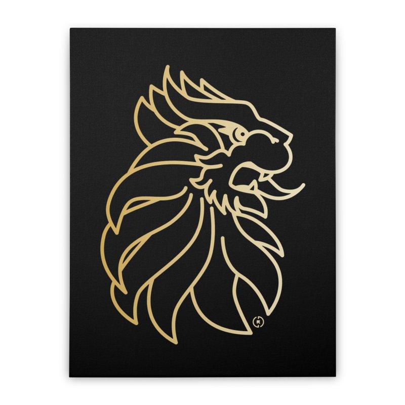 Roar Gold Home Stretched Canvas by Shop by Ray de Guzman  •  raydeguzman.ca