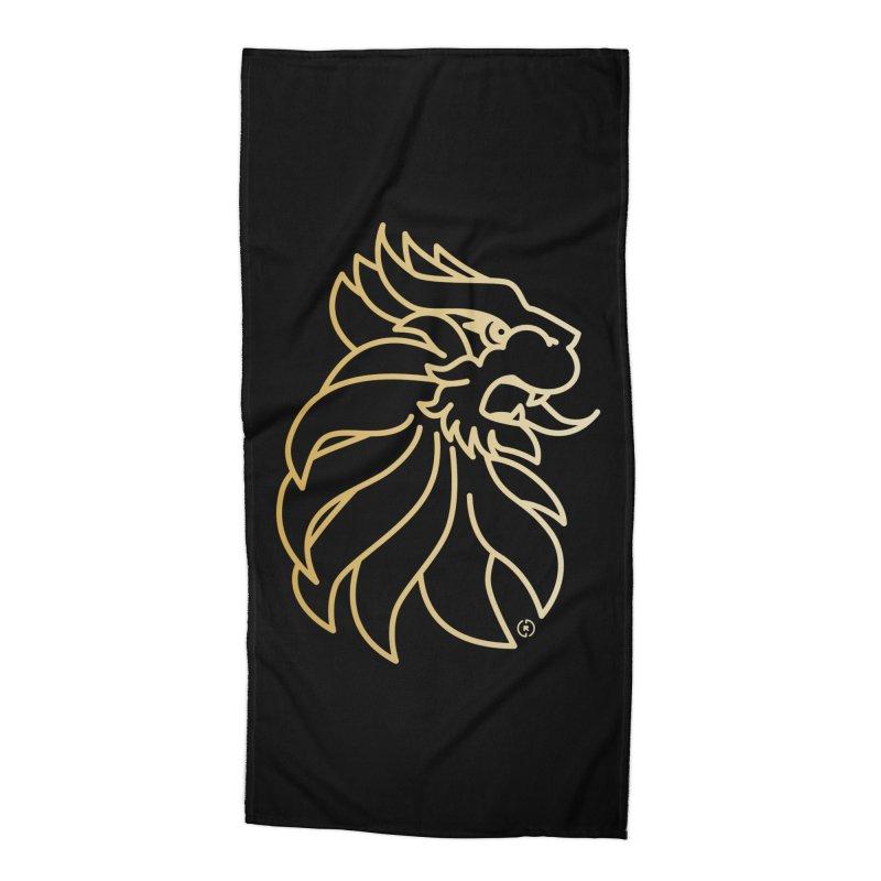 Roar Gold Accessories Beach Towel by Shop by Ray de Guzman  •  raydeguzman.ca