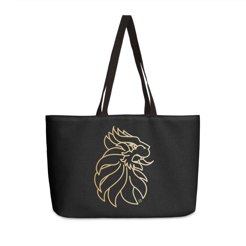 Roar Gold Accessories Weekender Bag Bag by Shop by Ray de Guzman  •  raydeguzman.ca