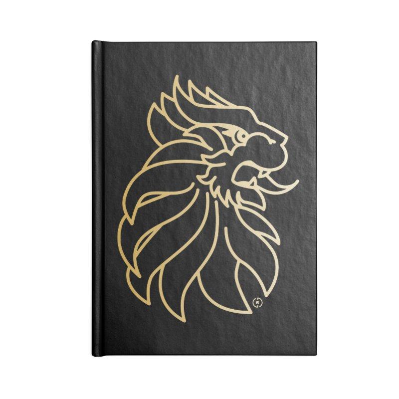 Roar Gold Accessories Blank Journal Notebook by Shop by Ray de Guzman  •  raydeguzman.ca