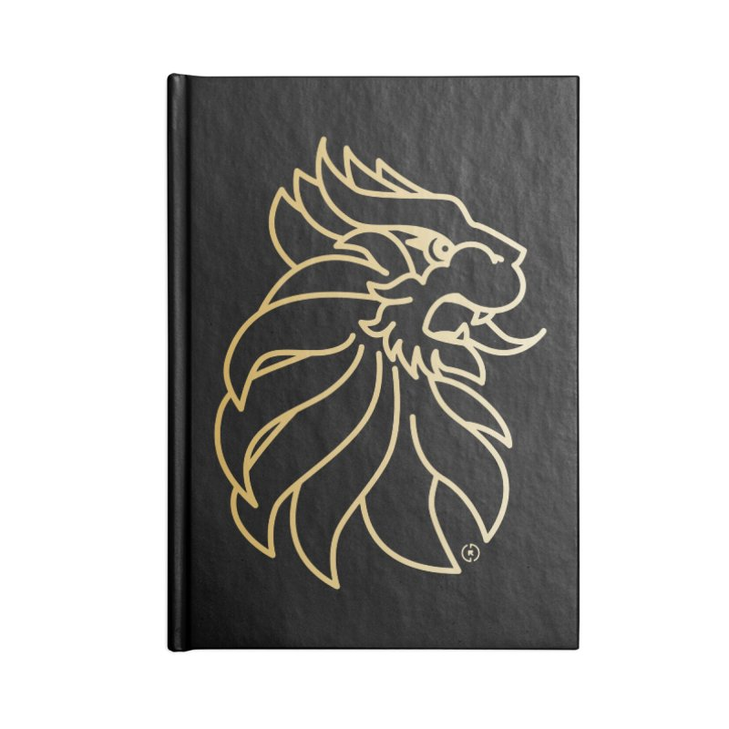 Roar Gold Accessories Lined Journal Notebook by Shop by Ray de Guzman  •  raydeguzman.ca