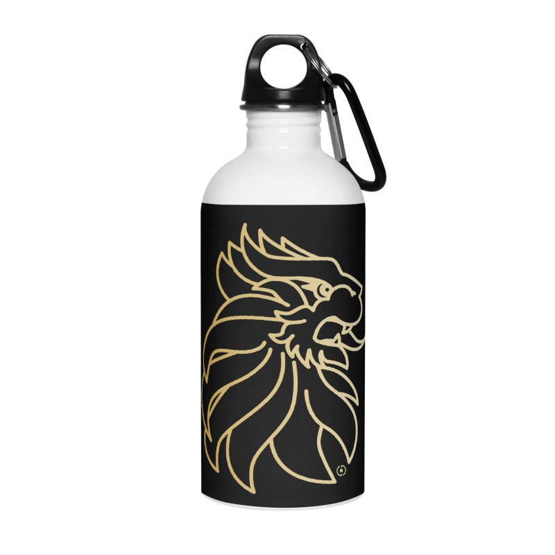 Roar Gold Accessories Water Bottle by Shop by Ray de Guzman  •  raydeguzman.ca