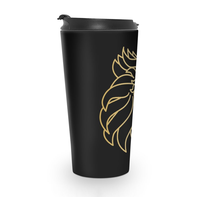 Roar Gold Accessories Travel Mug by Shop by Ray de Guzman  •  raydeguzman.ca