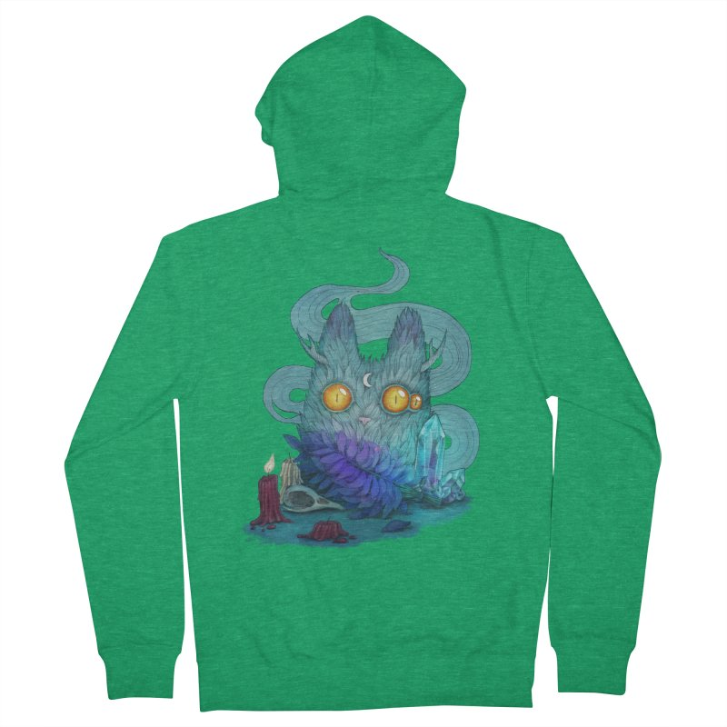 Mystic Forest Men's French Terry Zip-Up Hoody by RayneColdkiss Art