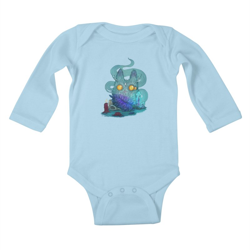 Mystic Forest Kids Baby Longsleeve Bodysuit by RayneColdkiss Art