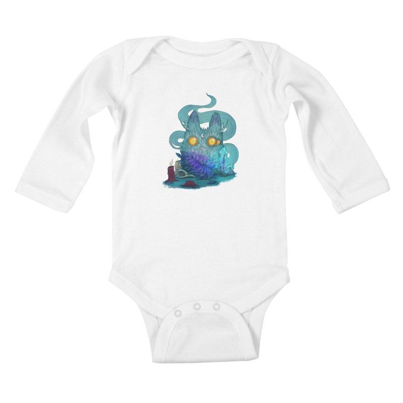 Mystic Forest Kids Baby Longsleeve Bodysuit by RayneColdkiss Art