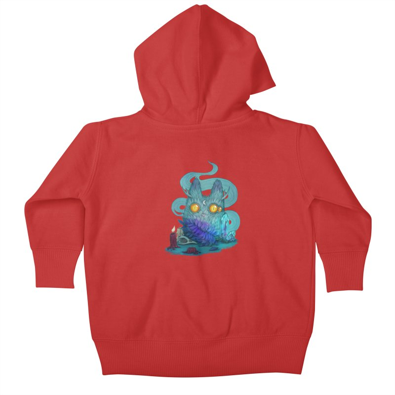 Mystic Forest Kids Baby Zip-Up Hoody by RayneColdkiss Art