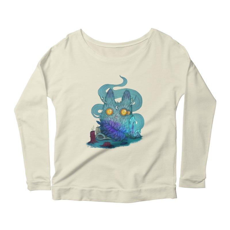 Mystic Forest Women's Scoop Neck Longsleeve T-Shirt by RayneColdkiss Art