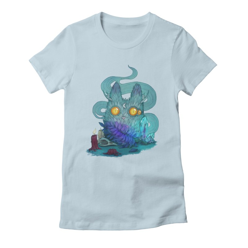 Mystic Forest Women's Fitted T-Shirt by RayneColdkiss Art