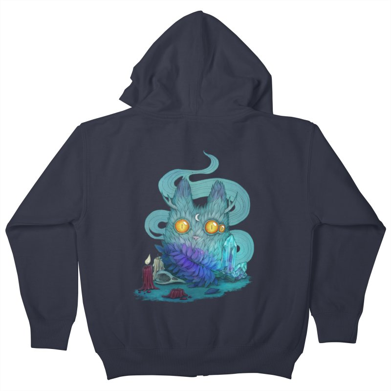 Mystic Forest Kids Zip-Up Hoody by RayneColdkiss Art