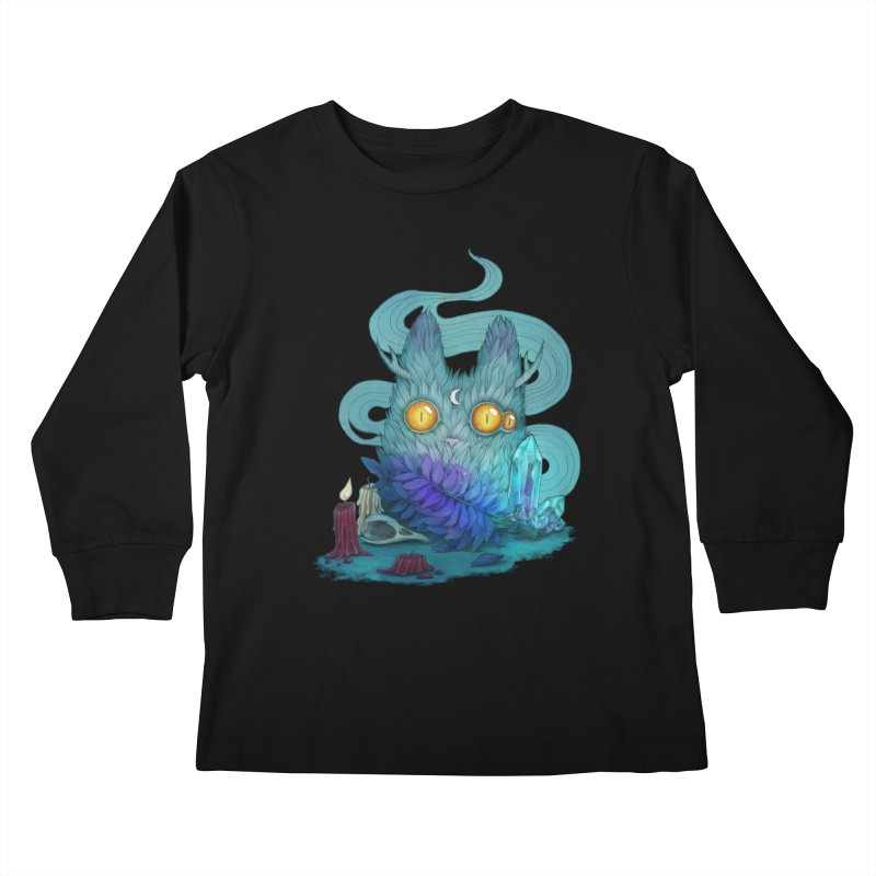 Mystic Forest Kids Longsleeve T-Shirt by RayneColdkiss Art
