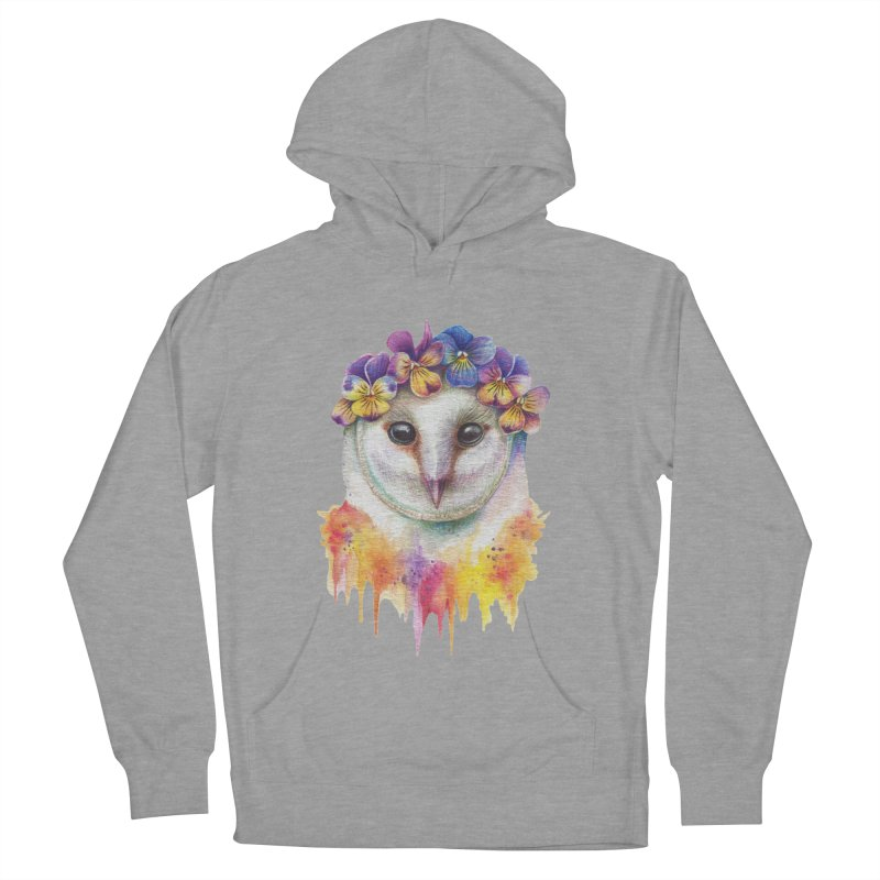 Spring Owl Men's French Terry Pullover Hoody by RayneColdkiss Art