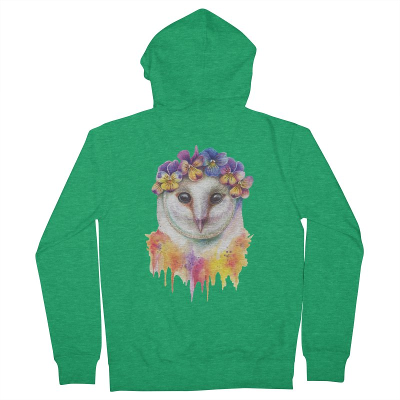Spring Owl Women's Zip-Up Hoody by RayneColdkiss Art