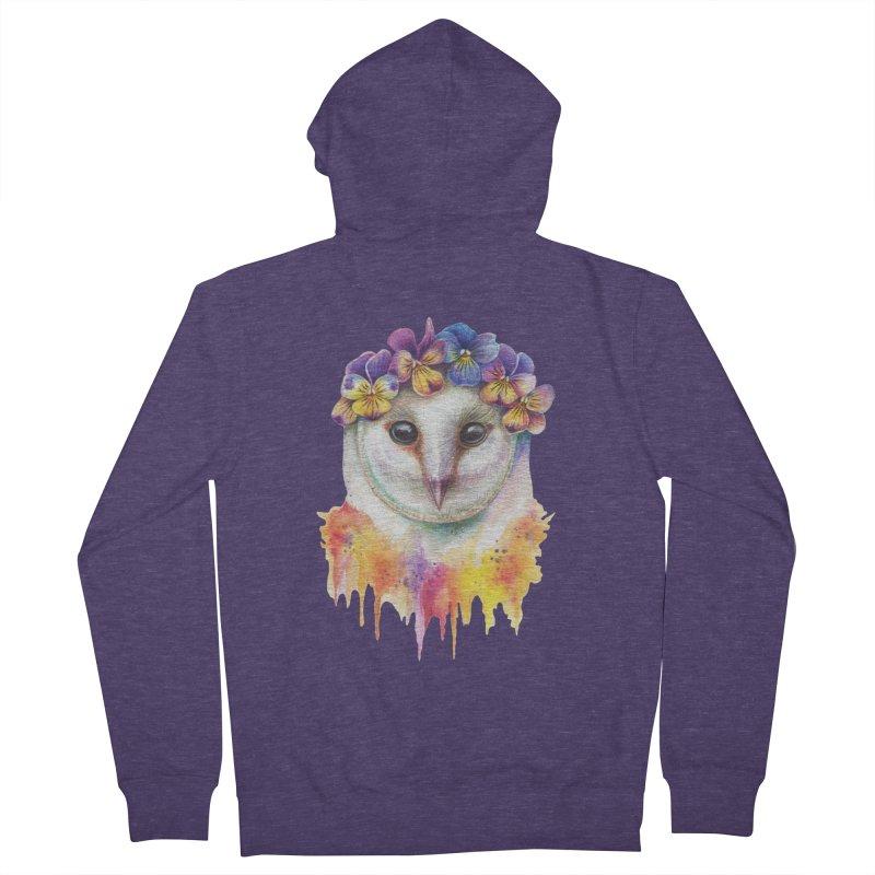 Spring Owl Men's Zip-Up Hoody by RayneColdkiss Art