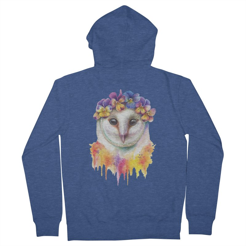 Spring Owl Men's Zip-Up Hoody by RayneColdkiss Art