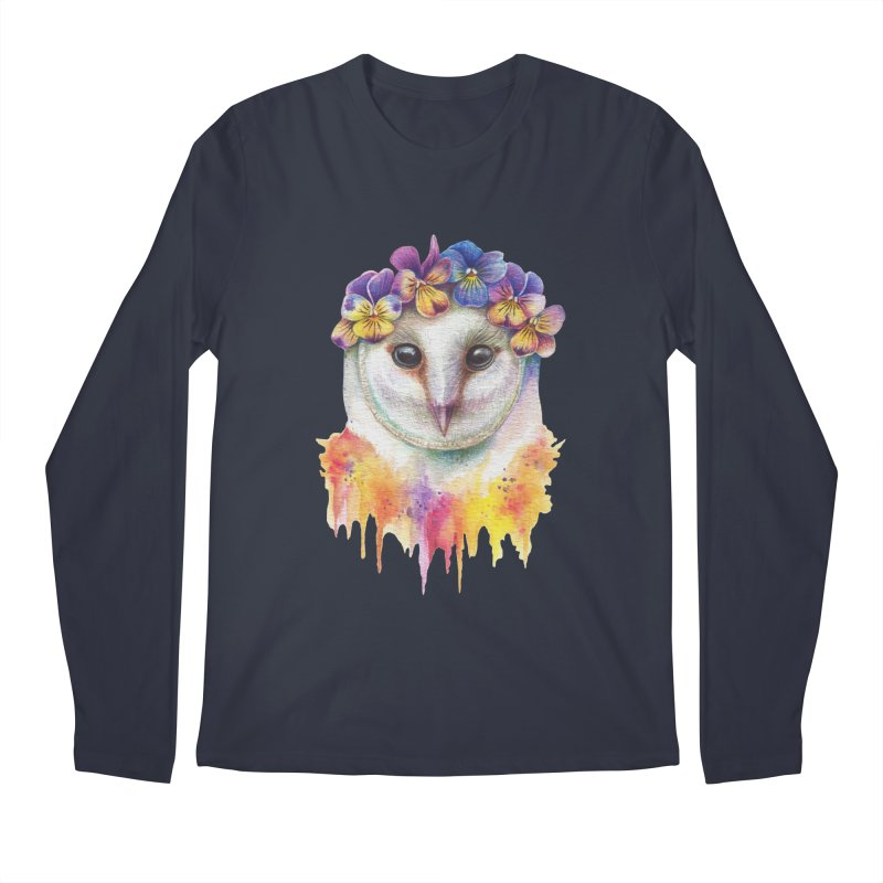 Spring Owl Men's Regular Longsleeve T-Shirt by RayneColdkiss Art