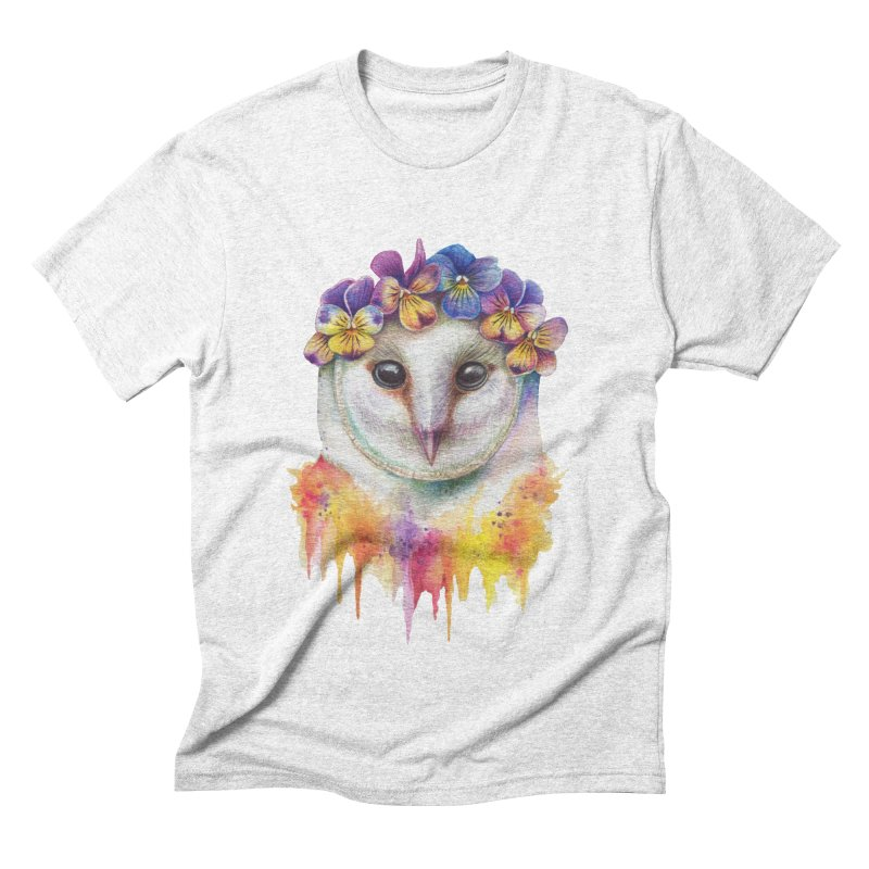 Spring Owl Men's Triblend T-shirt by RayneColdkiss Art