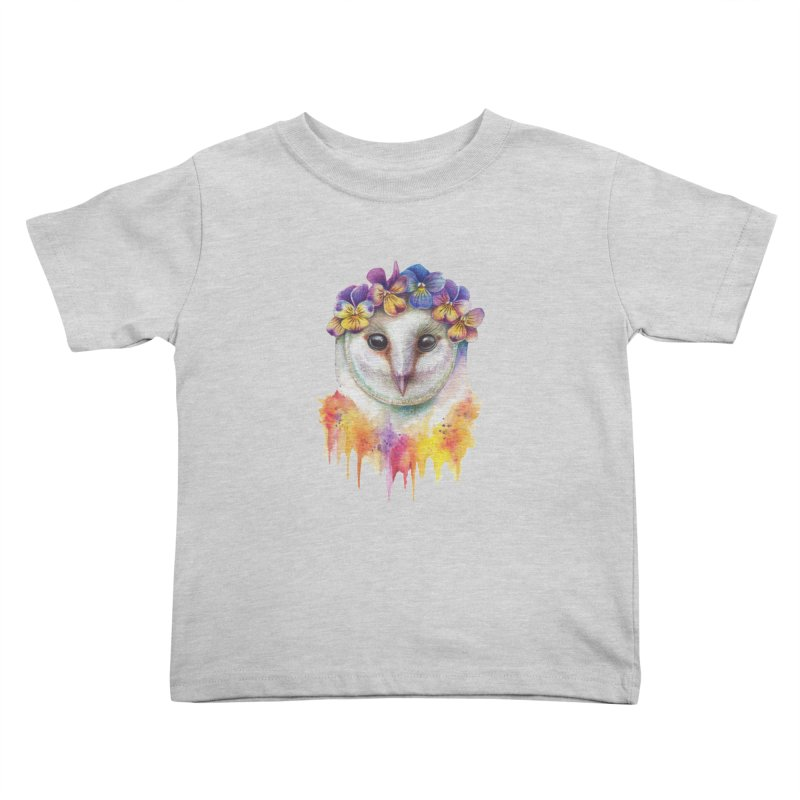 Spring Owl Kids Toddler T-Shirt by RayneColdkiss Art