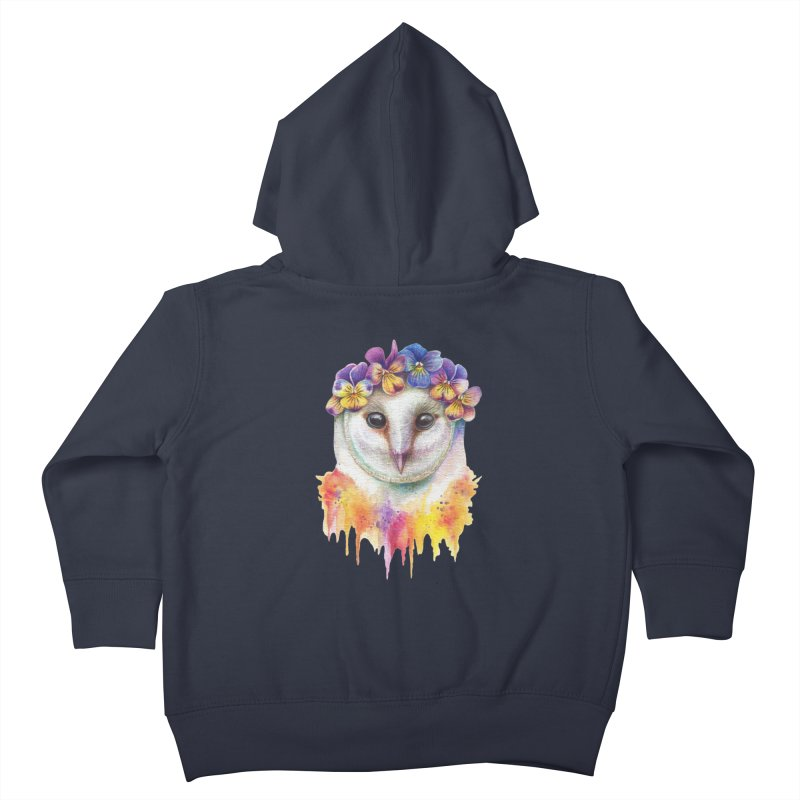 Spring Owl Kids Toddler Zip-Up Hoody by RayneColdkiss Art