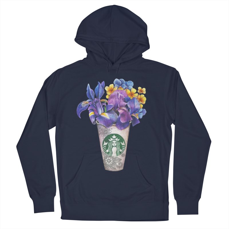 Starbucks Men's French Terry Pullover Hoody by RayneColdkiss Art