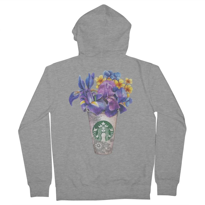Starbucks Women's Zip-Up Hoody by RayneColdkiss Art