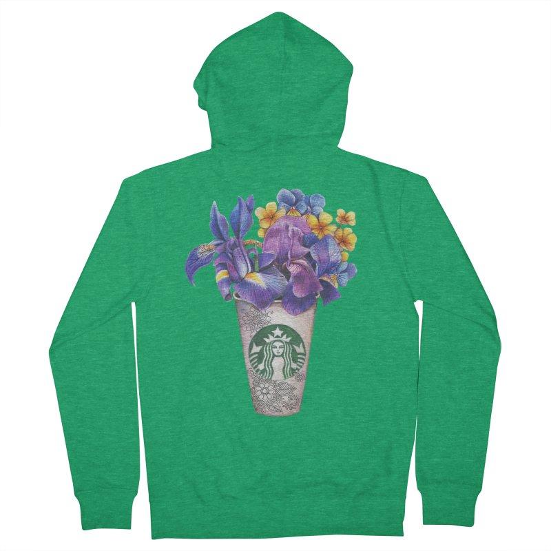 Starbucks Men's Zip-Up Hoody by RayneColdkiss Art